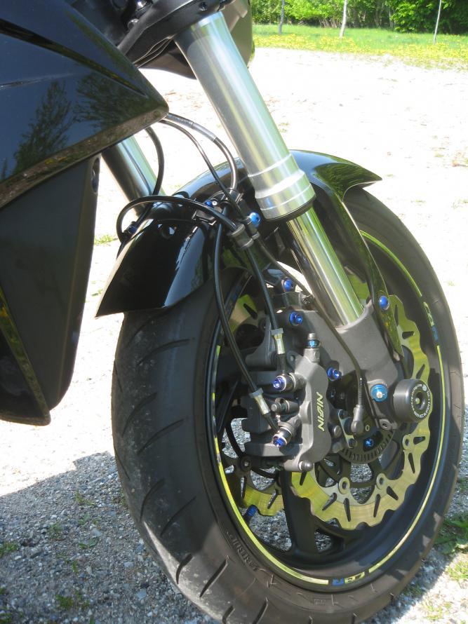 """Durites aviation CB1000R ABS Bihr """"Speed Brakes"""" Attachment"""