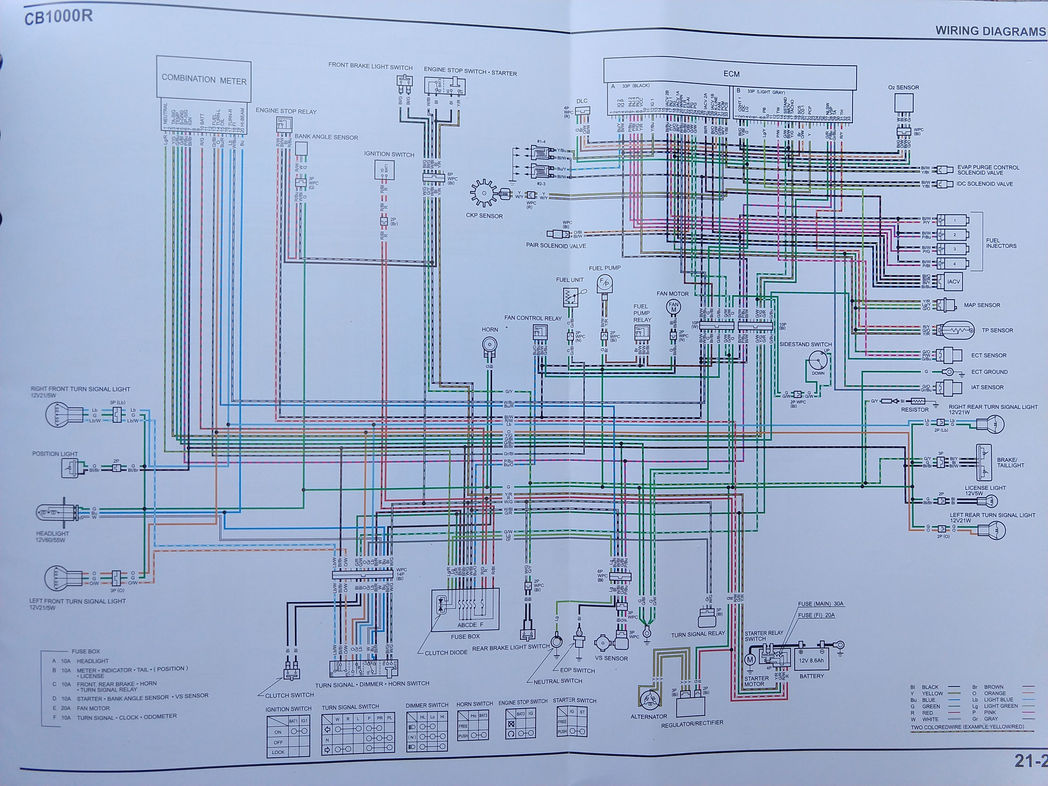 CB1000R North American specific Wiring Diagram | Honda CB1000R ForumHonda CB1000R Forum